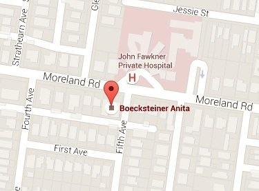 location map - Dr. Anita Boecksteiner Orthopaedic Surgeon